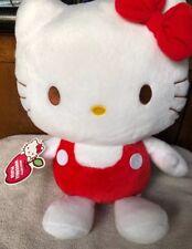 "2013 HELLO KITTY  15"" Stuffed Animal Plush Sanrio Nakajima Red Bathing Suit"