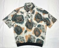 Vintage Fulton Street Shirt Works Size L Large Short Sleeve Print Made in USA