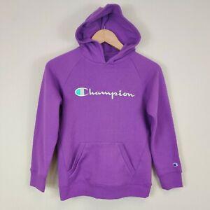 Champion Girl's Purple Hoodie Sweatshirt Youth Medium Hooded Pullover
