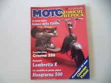 MOTO STORICHE E D'EPOCA 3/1997 LAMBRETTA 125 E/GREEVES CHALLENGER 250/PARILLA