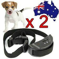 2 X AUTOMATIC ANTI BARK COLLAR STOP BARKING DOG TRAINING COLLAR