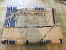 New ListingLaura Ashley Twin Flat Sheet Blue Stripe Palace Garden 100% Cotton Vintage