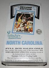 1990 Collegiate Collection North Carolina Basketball Second Edition 36-Pack Box