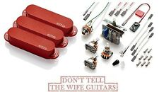 EMG SA SET RED 3 STRAT ACTIVE SOLDERLESS SINGLE COIL PICKUPS w/ POTS & SWITCH