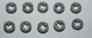 10 X Lego Light Gray Technic Bush 1/2 Toothed 4265a set 8868 8680 8862 8094 8853