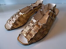 CARPISA scarpa donna decoltè in pelle e tomaia dorata Mis.38