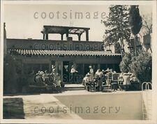 1950 Crowd Enjoys Lunch Time on Patio B & H Ranch Arizona Press Photo
