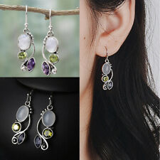 Jewelry Dangle  Multi-Gemstone Amethyst Ear Stud Peridot Moonstone Earrings