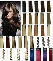 """Remy A Or A+ 50G 20PCS Straight & Wavy 16""""18""""20""""22 Tape In Human Hair Extensions"""