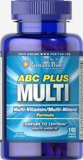 Puritan's Pride ABC Plus Multi-Mineral & Multivitamin Formula Health 100 Caplets