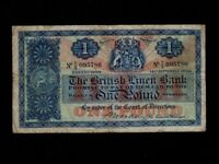 Scotland:P-157c,1 Pound,1946 * The British Linen Bank * F-VF *