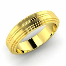 5mm Men's Anniversary Wedding Band in 10k Yellow Gold Free Engraving Free Sizing