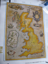 Map of British Isles by Abraham Ortelius Antwerp 1590 large poster picture print