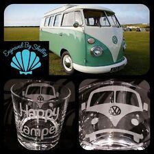Personalised VW Campervan Camper Van Camping Enthusiast Whiskey Tumbler Gift