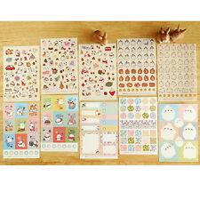 10pc Cute Cartoon Molang Rabbit Sticker Diary Scrapbook Deco Decal DIY Craft Tag