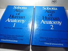Sobotta Atlas of Human Anatomy Volume 1 & 2 10th English Edition 1983 Hardcover