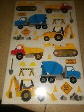 Mrs. Grossman's Stickers | Construction Equipment Dump Cement Dozer Trucks Sheet