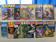 Eerie 2-22 (miss.7bks) MAGAZINE SET 1966-1969 Lower-Grade Warren Comics (m 1076)