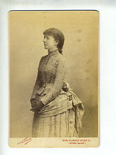 "(B2) Grande Photo CDV NADAR ""chanteuse actrice opéra théâtre"" JANE MAY"