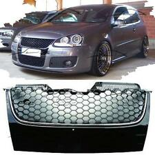 FRONT GRILL FOR VW GOLF 5 V 05-08 GTI LOOK BLACK-SILVER NO EMBLEM SPOILER NEW