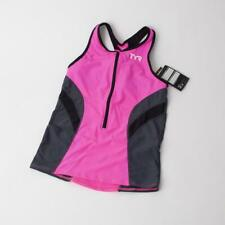 TYR Competitor Women's Tank: Pink/Gray LG