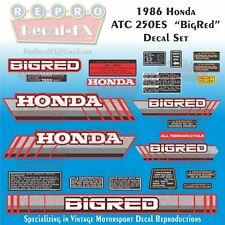 1986 Honda ATC 250ES Big Red Reproduction 22 Piece Vinyl Decals Three Wheeler