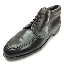 MEZLAN Enzo 8.5 Handmade Brown Leather Apron Toe Chukka Boots Made in Spain