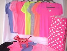 Victorias Secret PINK Womens T Shirt V Neck Pullover Tee Long Lean Stretch Nwt