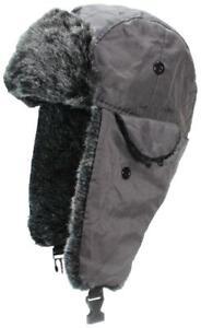 Child/Kid Russian/Trooper Winter Ear Flap Hat,Toboggan,Ski,Cap,Nylon, - Gray