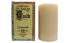 Meditation Range Candle - Blend of 12 Essential Oils Aust Made - Wide 80 Hours