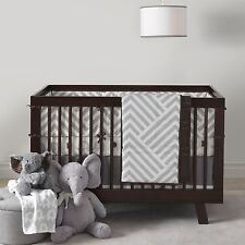Lambs & Ivy Jett 4 Piece Baby Nursery Crib Bedding Set Includes Bumper NEW