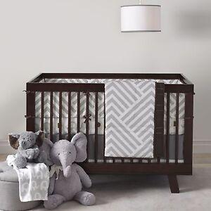 Lambs & Ivy Jett 4 Piece Baby Nursery Crib Bedding Set Includes Bumper NEW