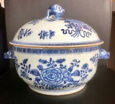 CHINE - Soupière en porcelaine XIX ème