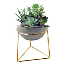 Flower Pot Geometric Metal Rack Plant Care Display Holder Stand Garden Decor