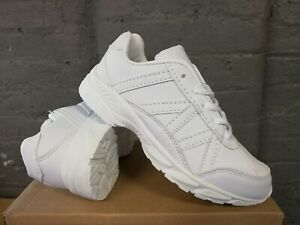 Boys Girls Kids Casual Lace School Sports Gym White Trainers School Shoes Size