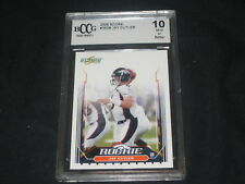 JAY CUTLER BRONCOS ROOKIE GENUINE AUTHENTIC CERTIFIED FOOTBALL CARD BCCG 10
