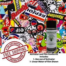 Hydrographic Water Transfer Hydro Dip 6oz Activator Amp 1m Sticker Bomb A Film Kit