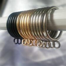10 pcs Curtain Hanging Metal Rings Slide Window Shower Curtain Rod Hooks Rings