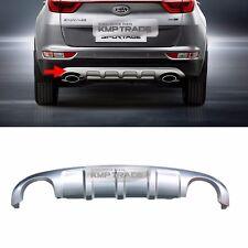 OEM Rear Bumper Dual Type Skid Silver Plate Diffuser for KIA 2017-18 Sportage QL
