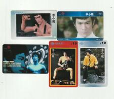 (5) Rare Phone Cards Bruce Lee