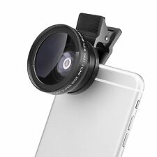 37mm 2in1 Optical Camera Lens 0.45X 49UV Wide Angle Lens + 12.5X Mobile & Camera