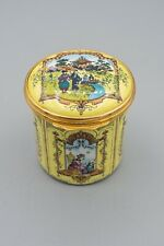 Halcyon Days Enamel Trinket Box – Chinoiserie Asian Motif Pagoda Oriental Tall