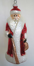 Retired Christopher Radko Christmas Glass Ornament Italy 1991 Russian Santa RED
