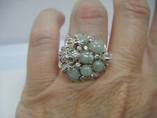 LOVELY ~ FROG RING sitting on a LILLY PAD size 6.25