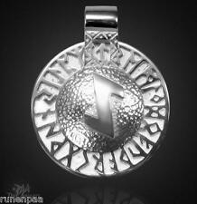 Runen Amulett Eiwaz drehbar in 925 Sterlingsilber!
