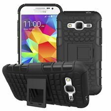 Proof Hard Case Heavy Duty Survivor Tough Shock Cover for Mobile PHONES Tablets Samsung Galaxy J3 (2016) Black