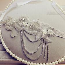 Flapper 20s Gatsby Rhinestone Diamante Headpiece Luxury Wedding Bridal Headband