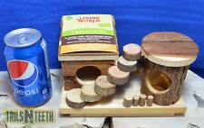 Living World TreeHouse Activity Center -All Natural Wood For Small Animals 61507