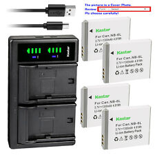 Kastar Battery LTD2 Charger for Canon NB-6L NB6LH CB2LY Canon PowerShot SX600 HS