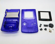 Transparent Clear Blue Full Housing Shell for Nintendo Game boy Color GBC Repair